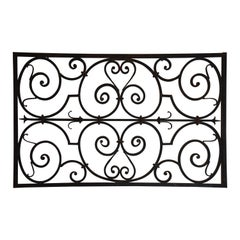 French Wrought Iron Architectural Panel