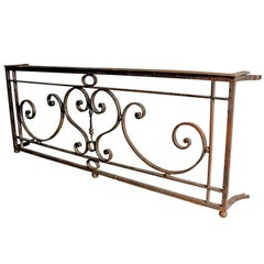 French Wrought Iron Balcony Grating