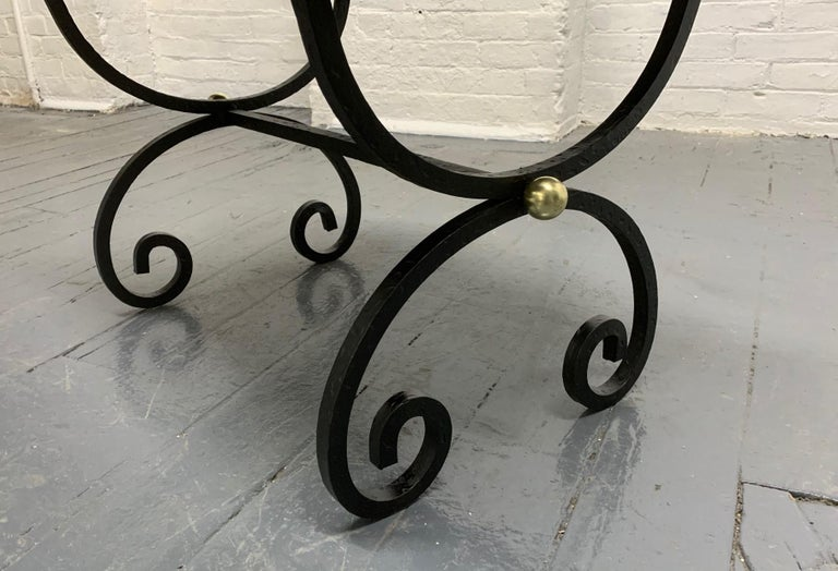 French Wrought Iron Bench In Good Condition For Sale In New York, NY