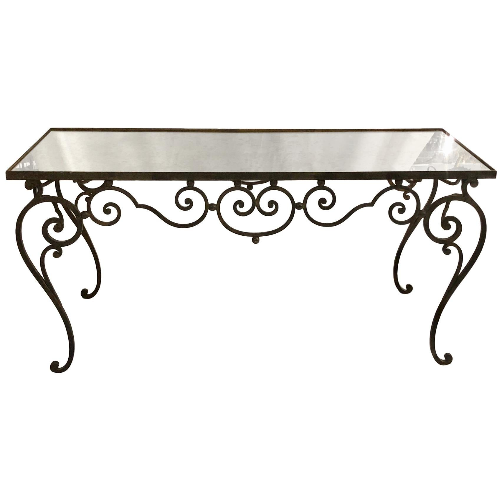 French Wrought Iron Coffee Table