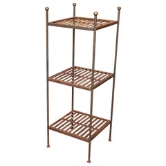 French Wrought Iron Étagère What Not Shelving Stand