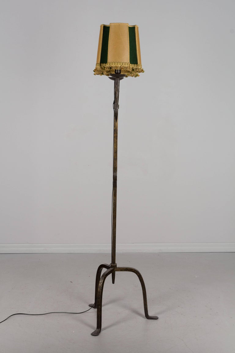 Enjoyable French Wrought Iron Floor Lamp At 1Stdibs Wiring Digital Resources Operpmognl