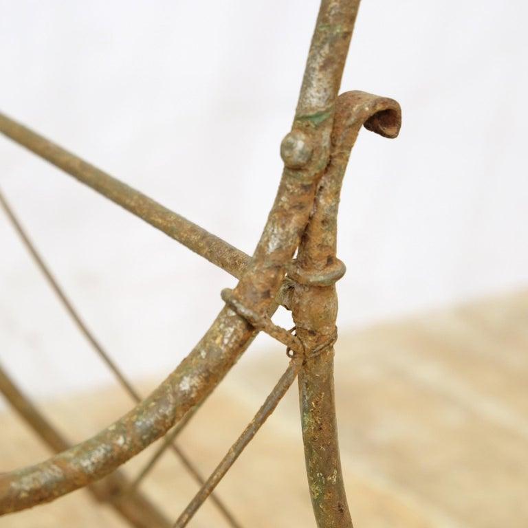 French Wrought Iron Garden Chair Frame, Sculptural, 19th Century, Garden Feature For Sale 2