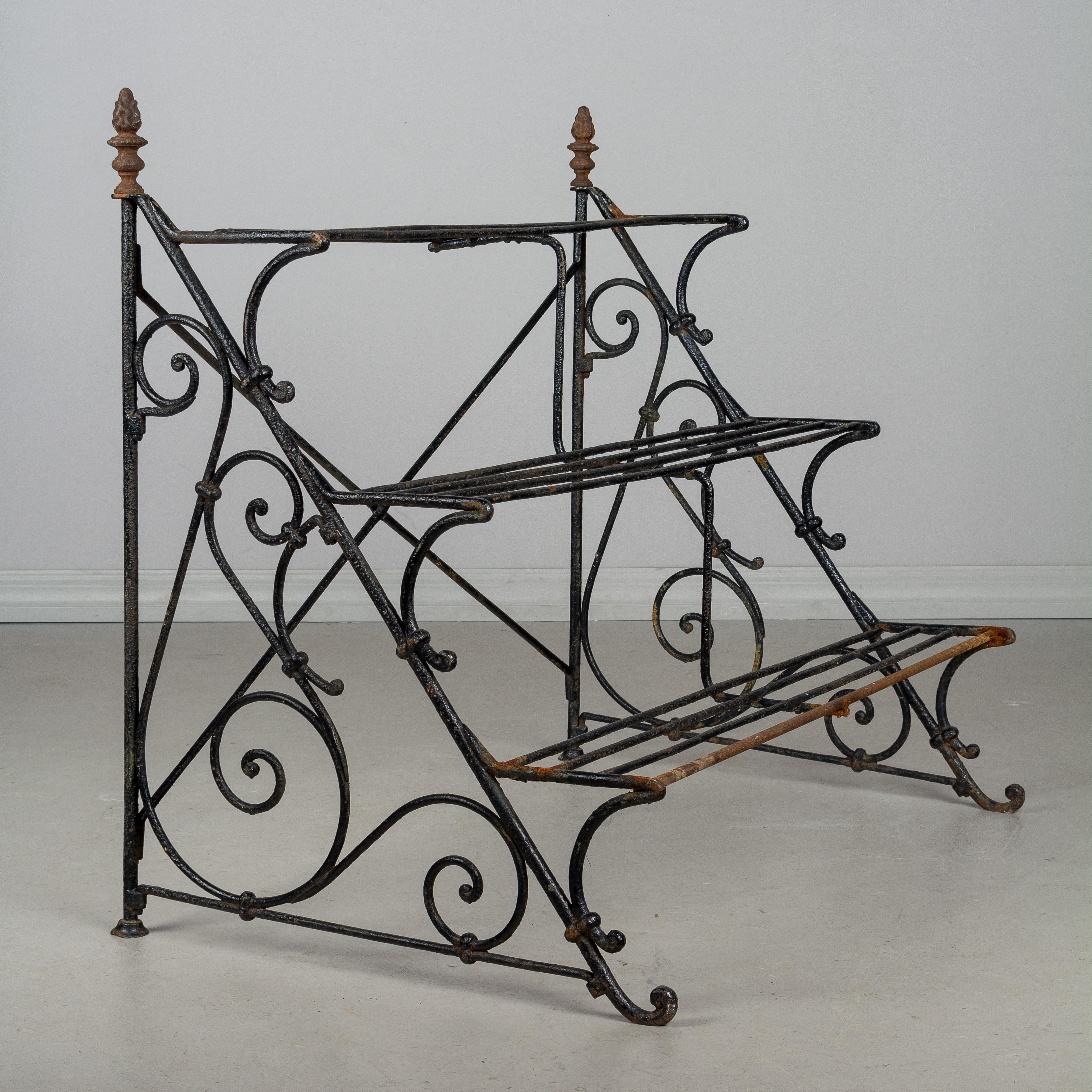 Superieur French Wrought Iron Garden Shelf