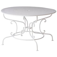 French Wrought Iron Garden Table, circa 1900