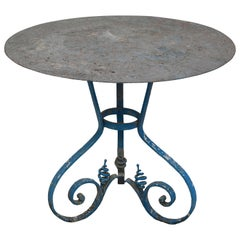 French Wrought Iron Garden Table