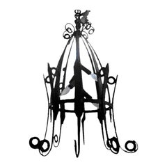 French Wrought Iron Lantern, circa 1920