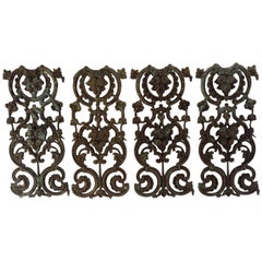 French Wrought Iron Panels, 19th Century