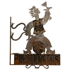 French Wrought Iron Sign