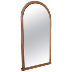 French XIX Arched Wood Framed Mirror
