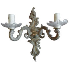 French XIX Bronze 2-Light Sconce