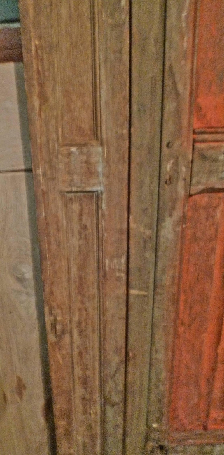 French xix Louis XVI Hand Painted Carved Decorative Door with Original Paint For Sale 3