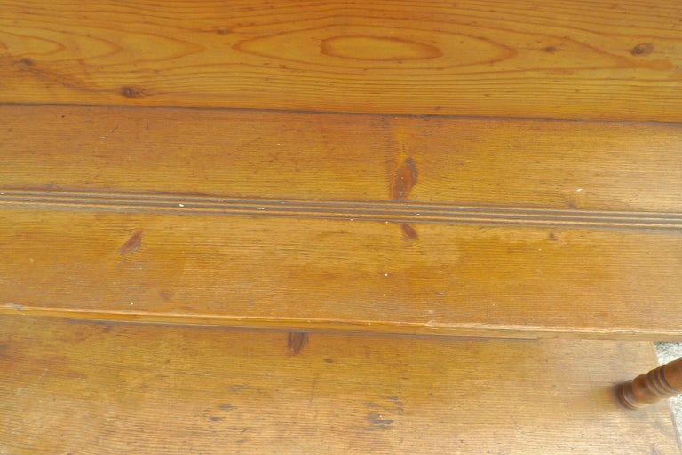 Pine French Open Faced Kitchen Dresser with 3 Shelves, 2 Doors and One Drawer For Sale
