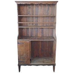 French Open Kitchen Dresser with 3 Shelves and 1 Small Compartment with Door
