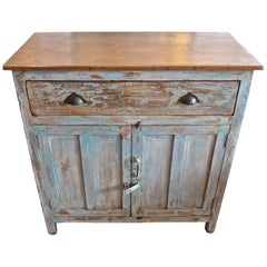 French 19th Century Painted 2-Door Buffet with 1 Large Drawer