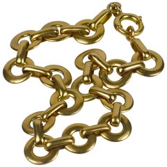 French Yellow 18 Karat Gold Link Bracelet