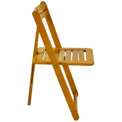 French Yellow Folding Chair