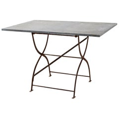 French Zinc Folding Garden Tables