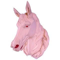 French Zinc Horse Head, circa 1930