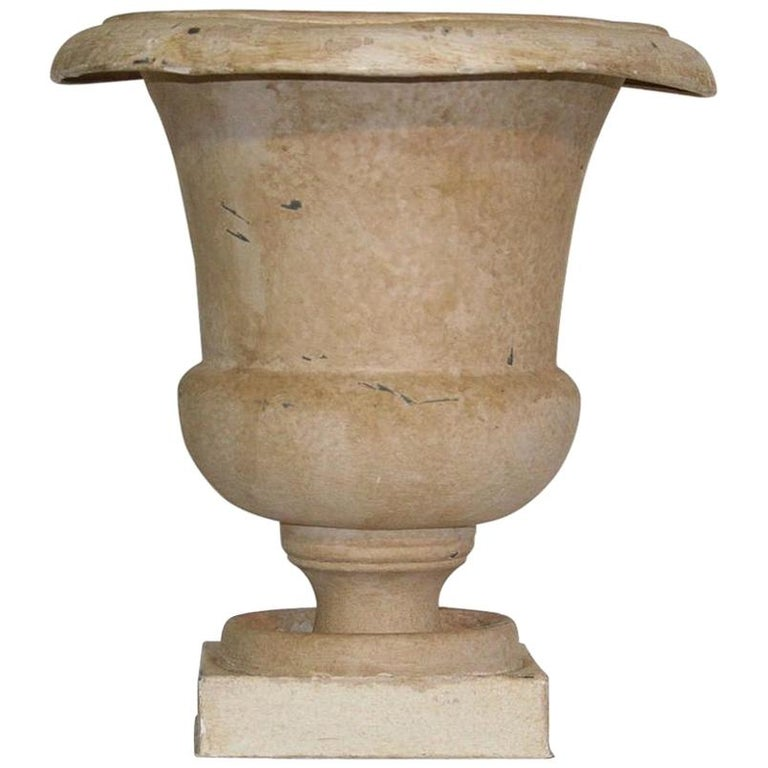 French Zinc Medici Vase, 19th Century For Sale
