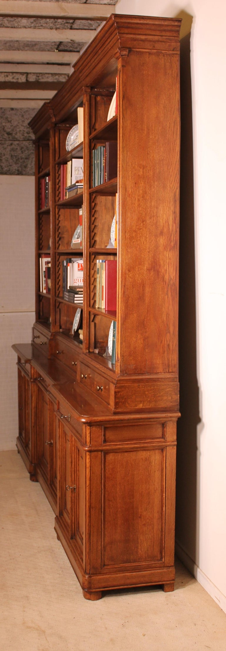 Louis Philippe Open Bookcase: French 19th Century Bookcase In Light Oak For Sale At 1stdibs