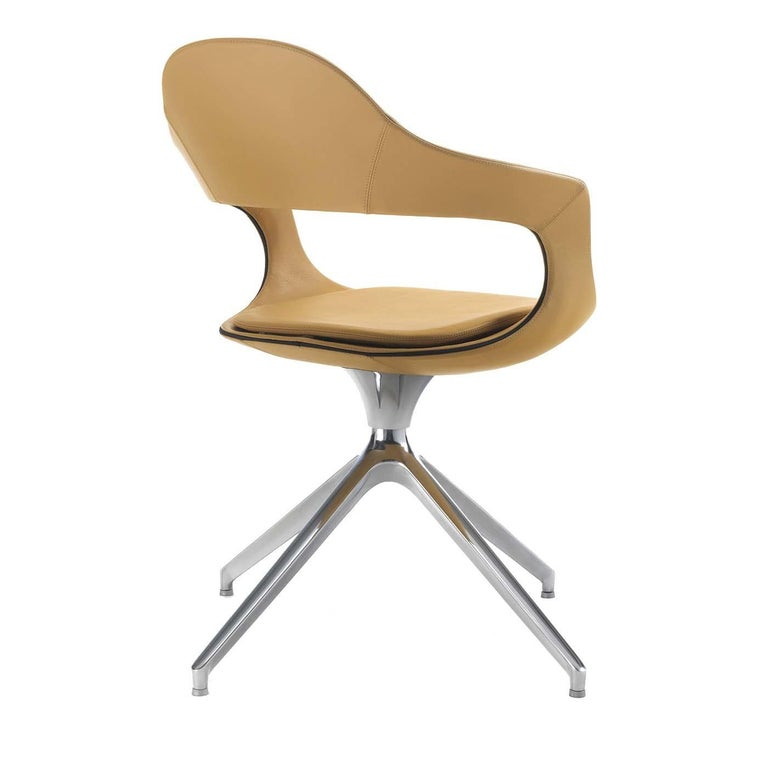 Italian French Kiss High-Back Trestle-Based Chair by Stefano Bigi For Sale