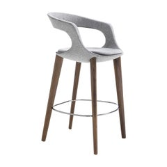 Frenchkiss Low-Back Counter Stool by Stefano Bigi