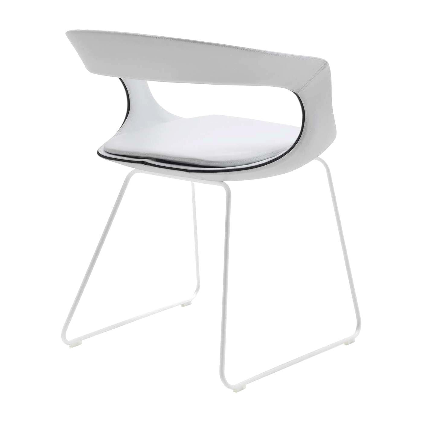 Frenchkiss Low-Backed Sled-Base Chair by Stefano Bigi
