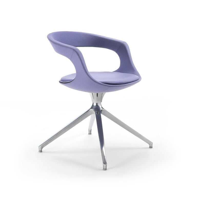 Modern Frenchkiss Low-Backed Trestle-Based Chair by Stefano Bigi For Sale