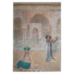 Fresco, Austria Mid-20th Century