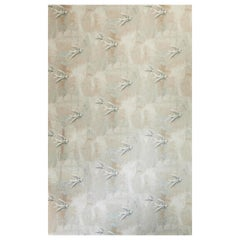 'Fresco Birds' Contemporary, Traditional Wallpaper in Natural