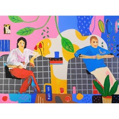'Fresh Biscuits' Portrait Painting by Alan Fears Couple Living Room