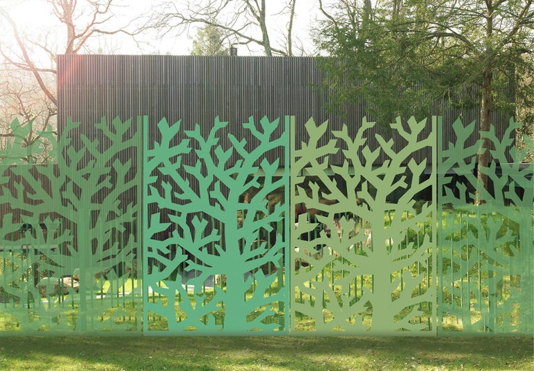 Fresh, Decorative Tree-Screen, Collection Limited Edition, Signed by the Artist For Sale 1