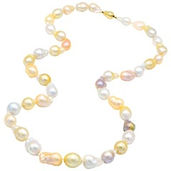 Freshwater and South Sea Multi-Color Baroque Pearl Necklace