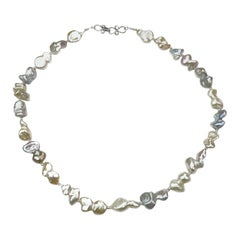 Freshwater, Multitone, Baroque Pearl Necklace