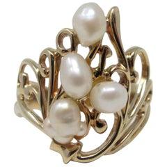Freshwater Pearl Ring in 14 Karat Gold