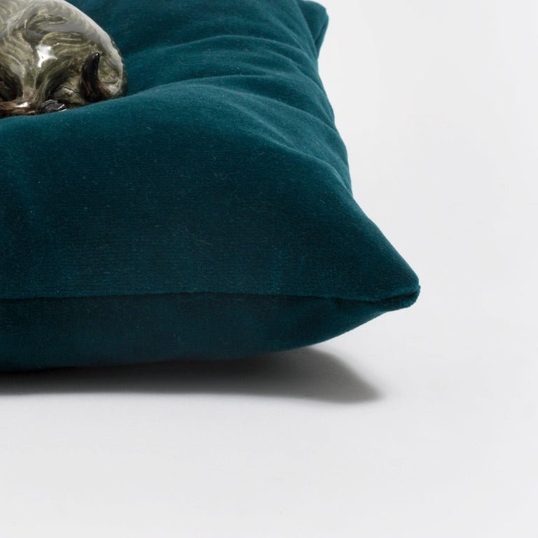 Frida Fjellman, Sleeping Weasel ceramic animal sculpture, created in Sweden 4