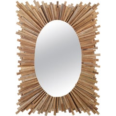 Frida Mirror in Natural Glass by CuratedKravet