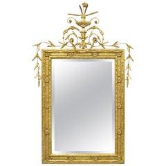 Friedman Brothers Large Gold Gilt Adams Style Beveled Mirror