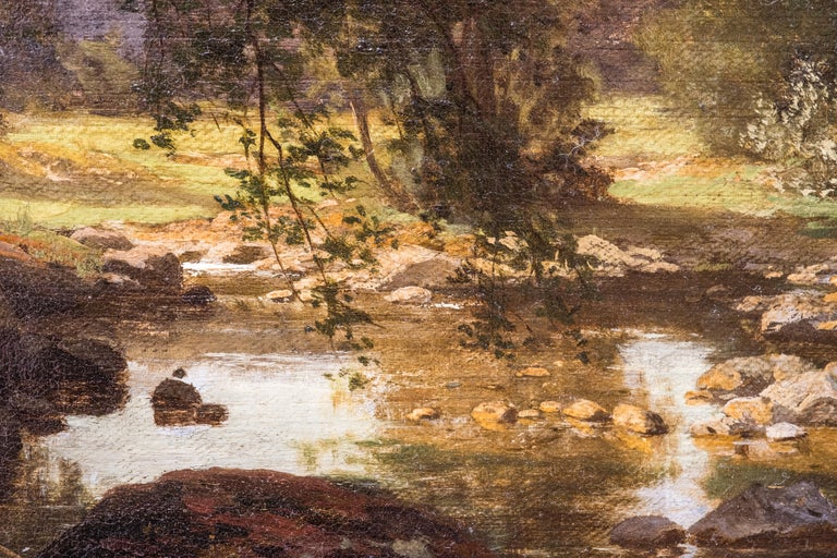 German Landscape by Friedrich Carl Werner Ebel For Sale 2