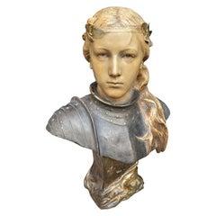 """Friedrich Goldscheider """"Jeanne D'Arc """" Marked, Austria, circa 1890"""