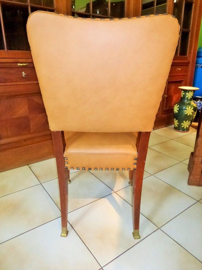 Austrian Friedrich Otto Schmidt Jugendstil Chairs Based on a Adolf Loos Design For Sale