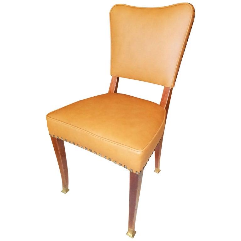 Friedrich Otto Schmidt Jugendstil Chairs Based on a Adolf Loos Design For Sale