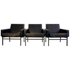 Friedrich Wilhelm Moller for COR Set of Three Leather Armchairs