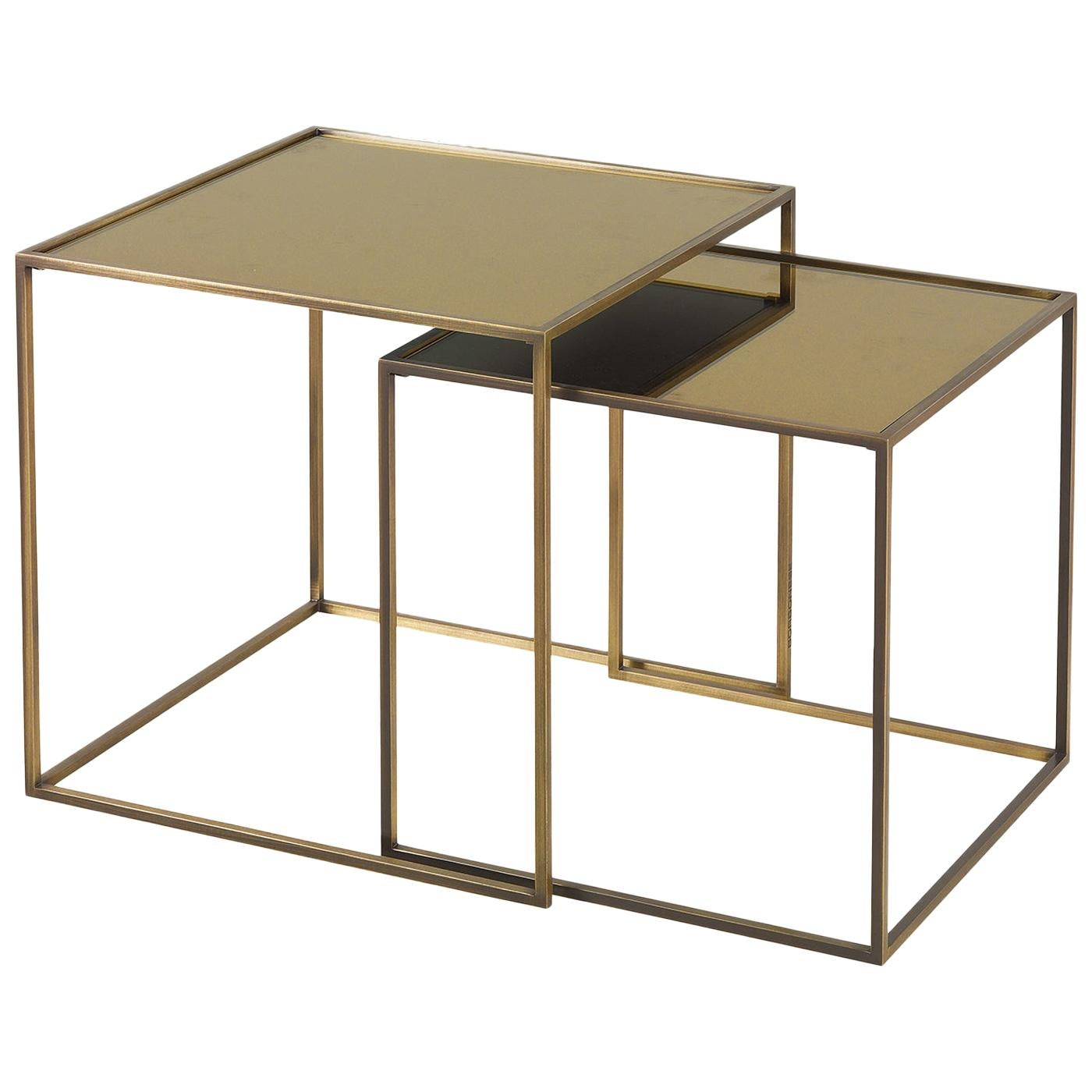 Friends Set of 2 Nesting Tables with Mirror Top