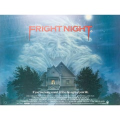 Fright Night British UK Film Poster, 1985, Peter Mueller, Rolled
