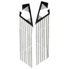 Fringe Diamond 18 Karat Gold Earrings