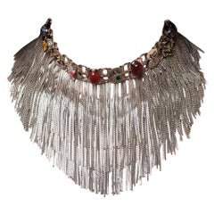 Fringed Gold Choker and Natural Stones from IOSSELLIANI