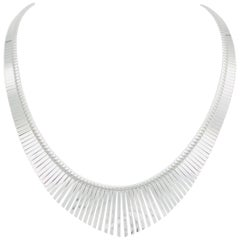 Fringed Silver Necklace