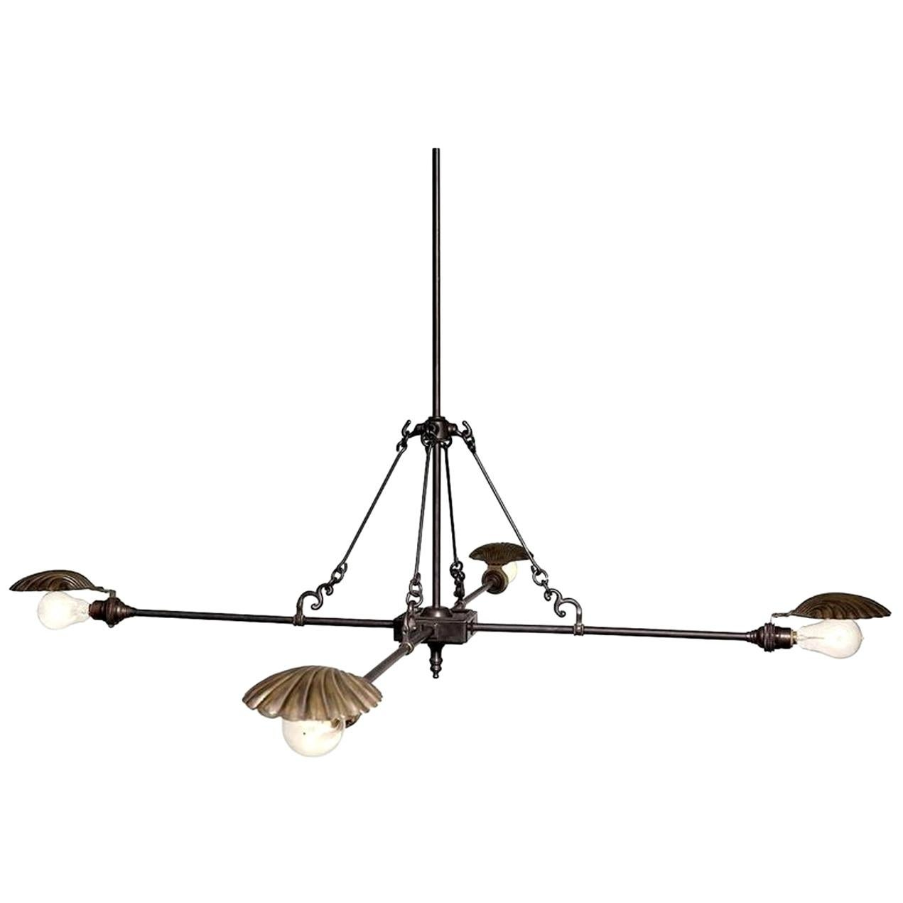 Frink Four Shell Chandelier